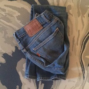 Levi's 505 C Straight Leg High Waist Jean